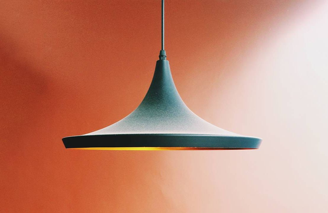 A close up of a hanging pendant lamp. Next Avenue, home lighting, vision, lighting for older people