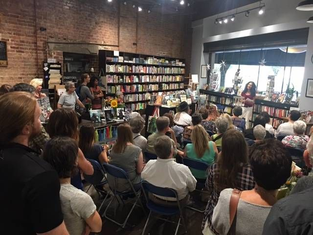 The author giving a talk at Starline Books in Chattanooga. Phobias.