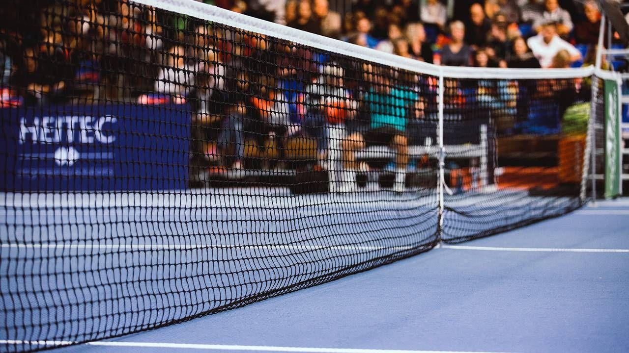 Close up of a tennis court. Next Avenue, U.S. Open, Tennis, COVID 19