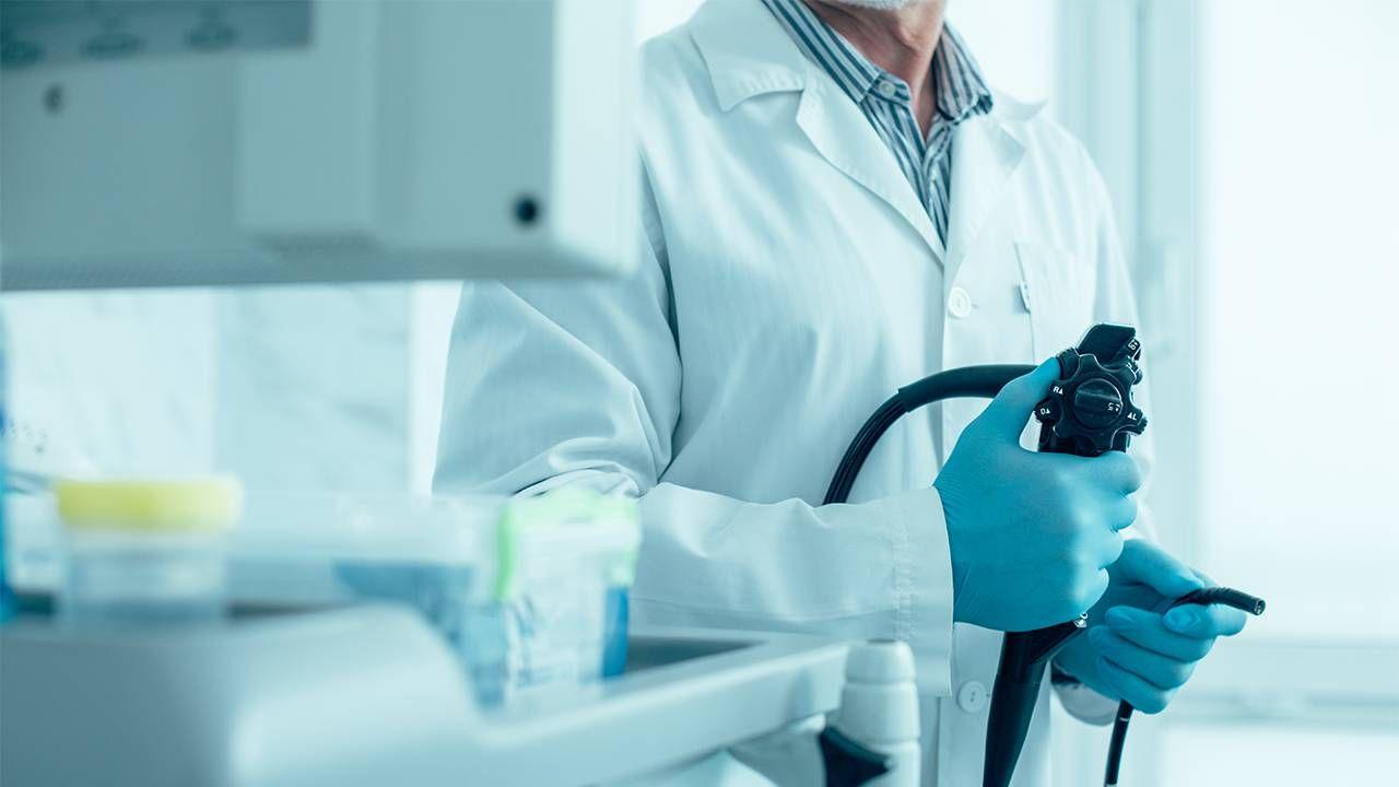A doctor preparing for a colonoscopy. Next Avenue, colon cancer, colon screening