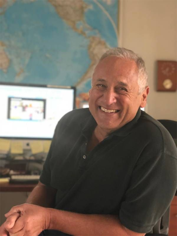 Writer Larry Jacobson in his office. Next Avenue, covid-19, dreams into reality, goals
