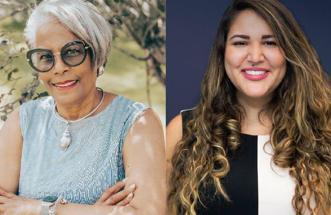 Side-by-side photos of two women. Next Avenue, Gen2Gen Innovation Fellow
