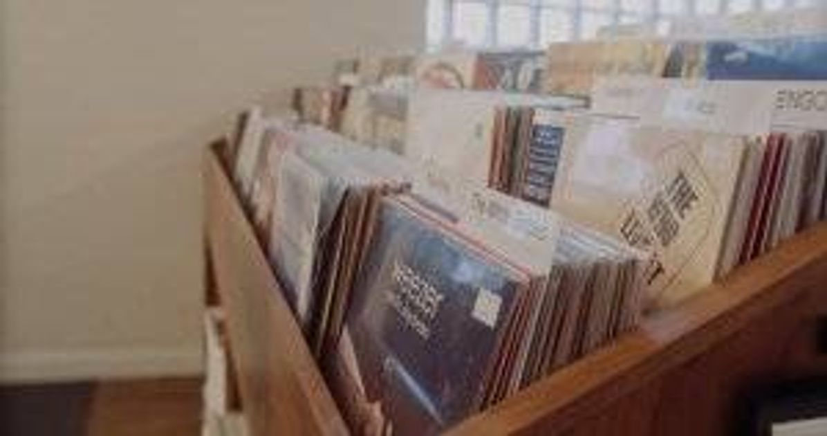 A rack of records Vinyl Collection pbs rewire