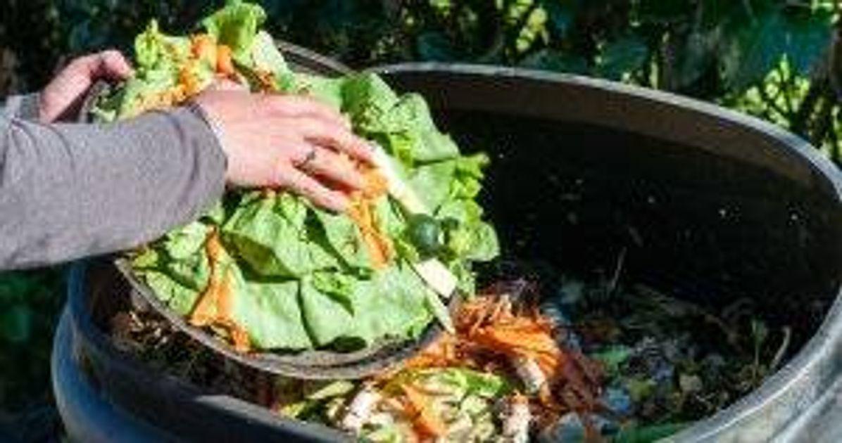 Someone composting kitchen waste Zero-Waste Habits pbs rewire