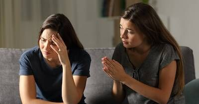 A woman apologizing to her female friend. Meanigful Apology pbs rewire