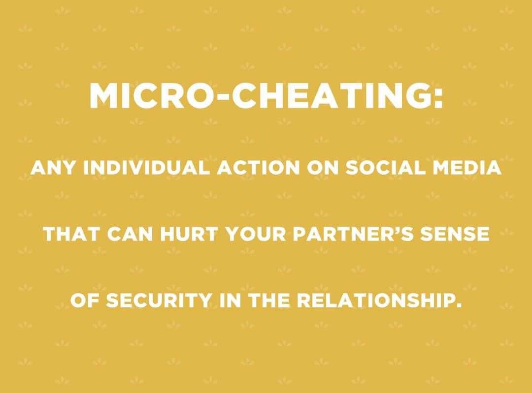 Graphic defining micro-cheating. Love Life pbs rewire