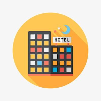 Illustration of small hotel. Eco-Friendly Travel Tips pbs rewire