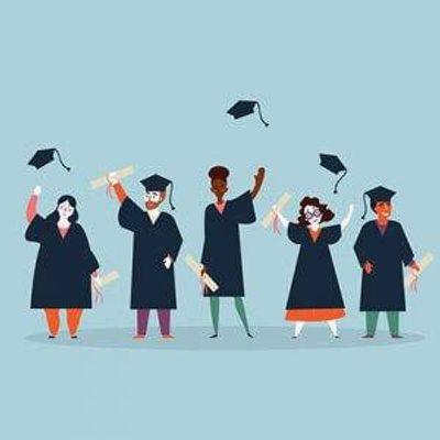 College grads celebrating. Rewire PBS living college graduation