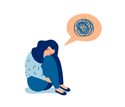 a sad woman with depression. REWIRE PBS love help