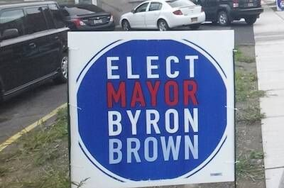 A campaign sign that says