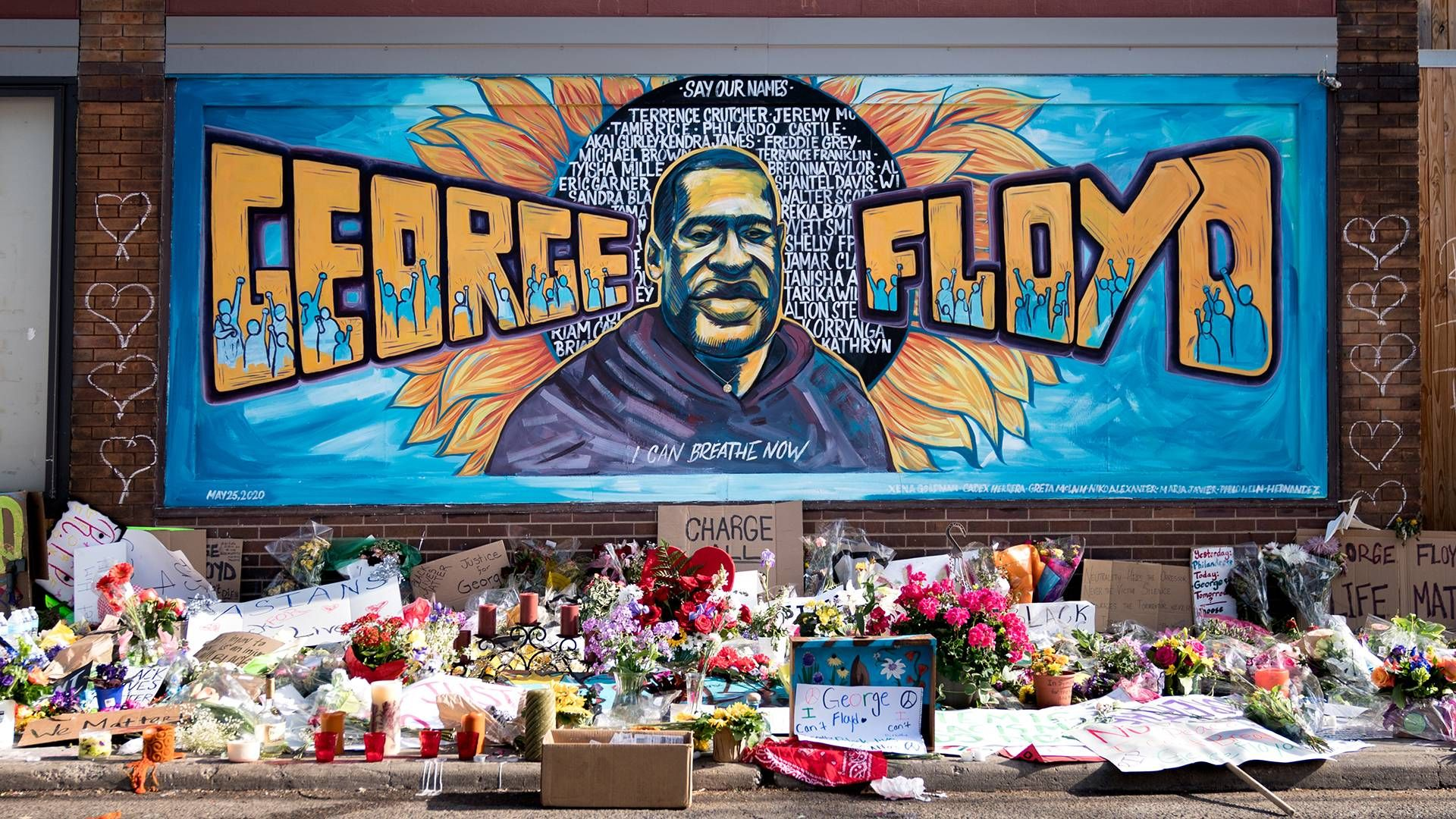 Photo of the George Floyd mural in Minneapolis by Lorie Shaull. Rewire PBS Racial Justice Our Future