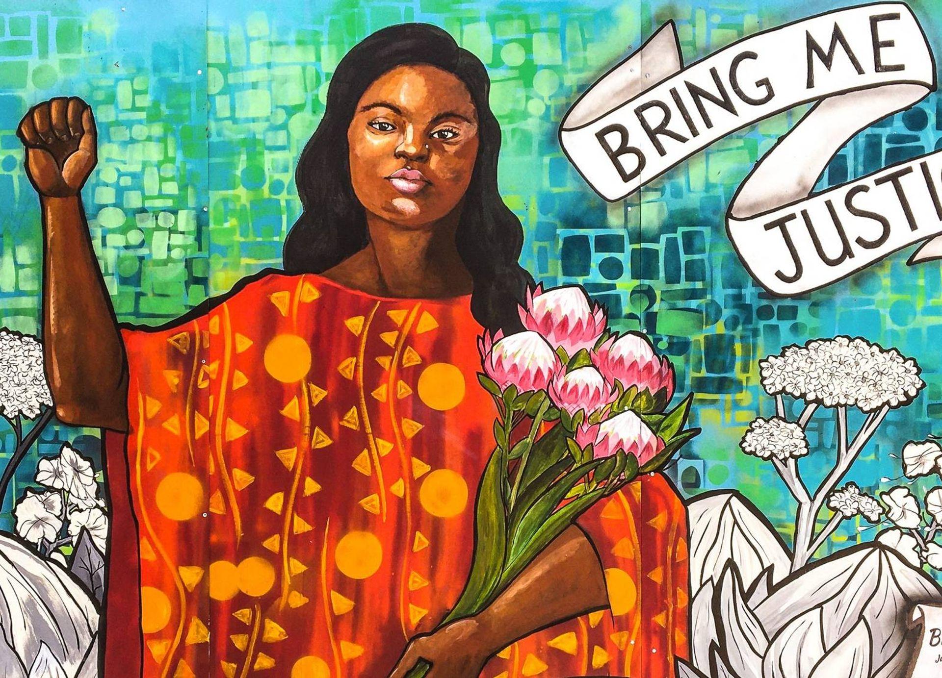 Mural of Breonna Taylor in Oakland California