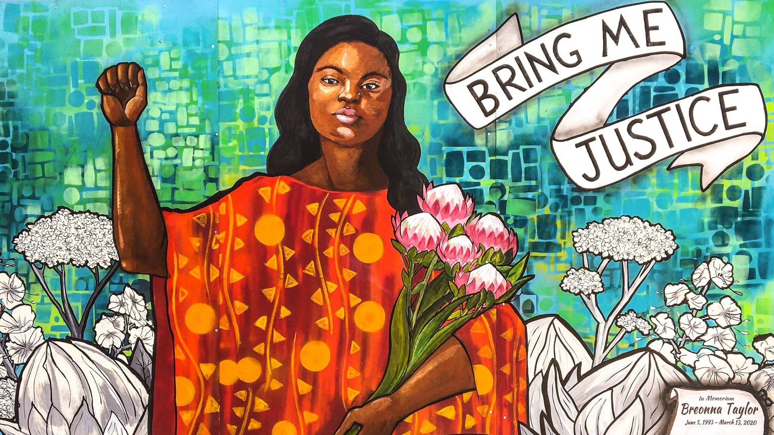 Mural of Breonna Taylor in Oakland California REWIRE PBS Our Future #SayHerName