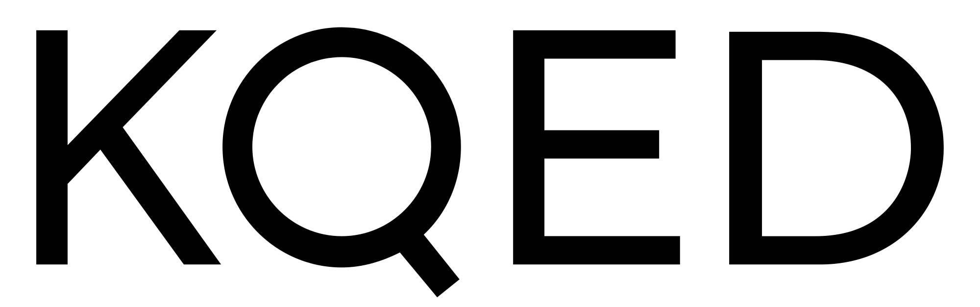 Logo of KQED in San Francisco.