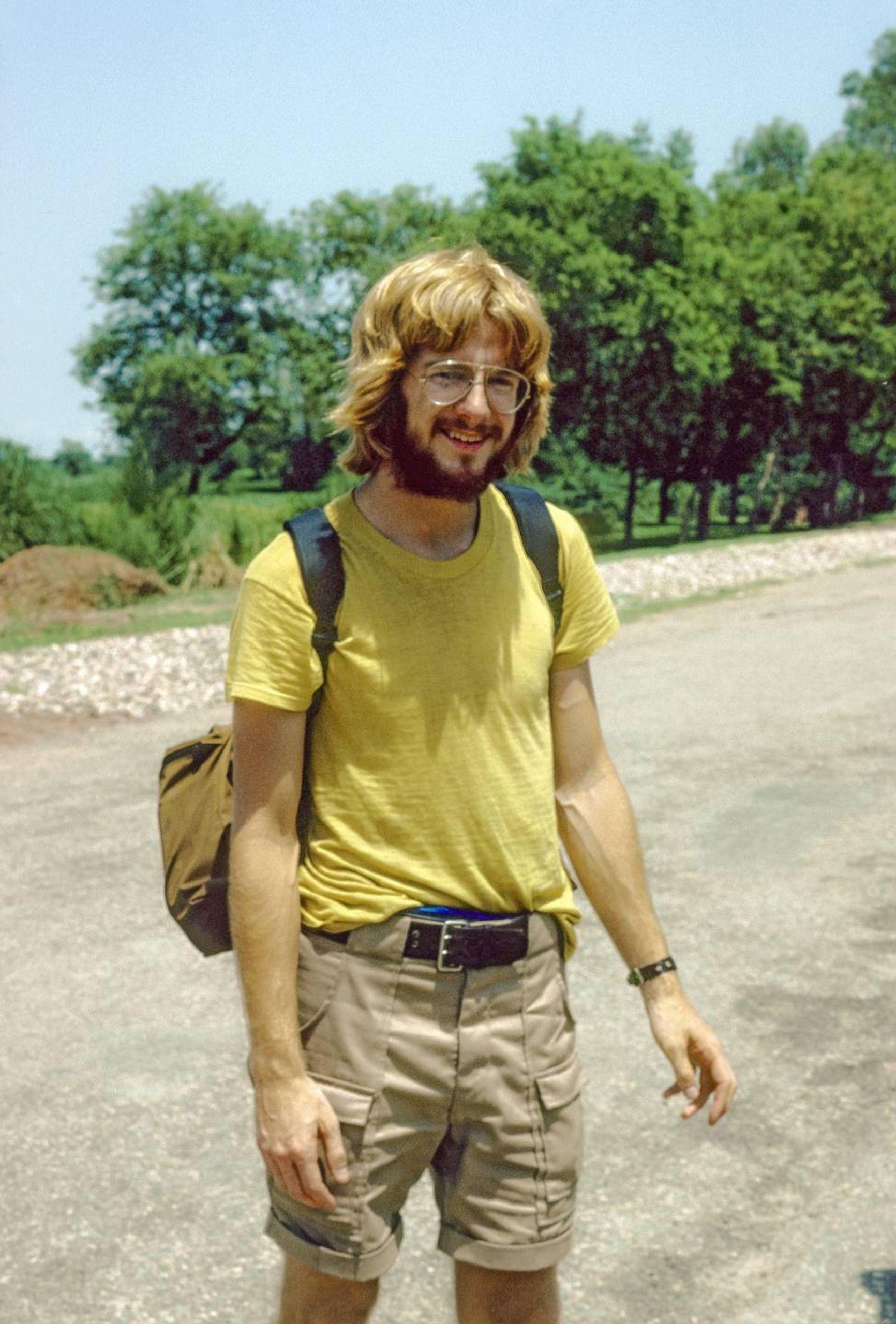 Rick in Asia in 1978. Rewire PBS Rick Steves