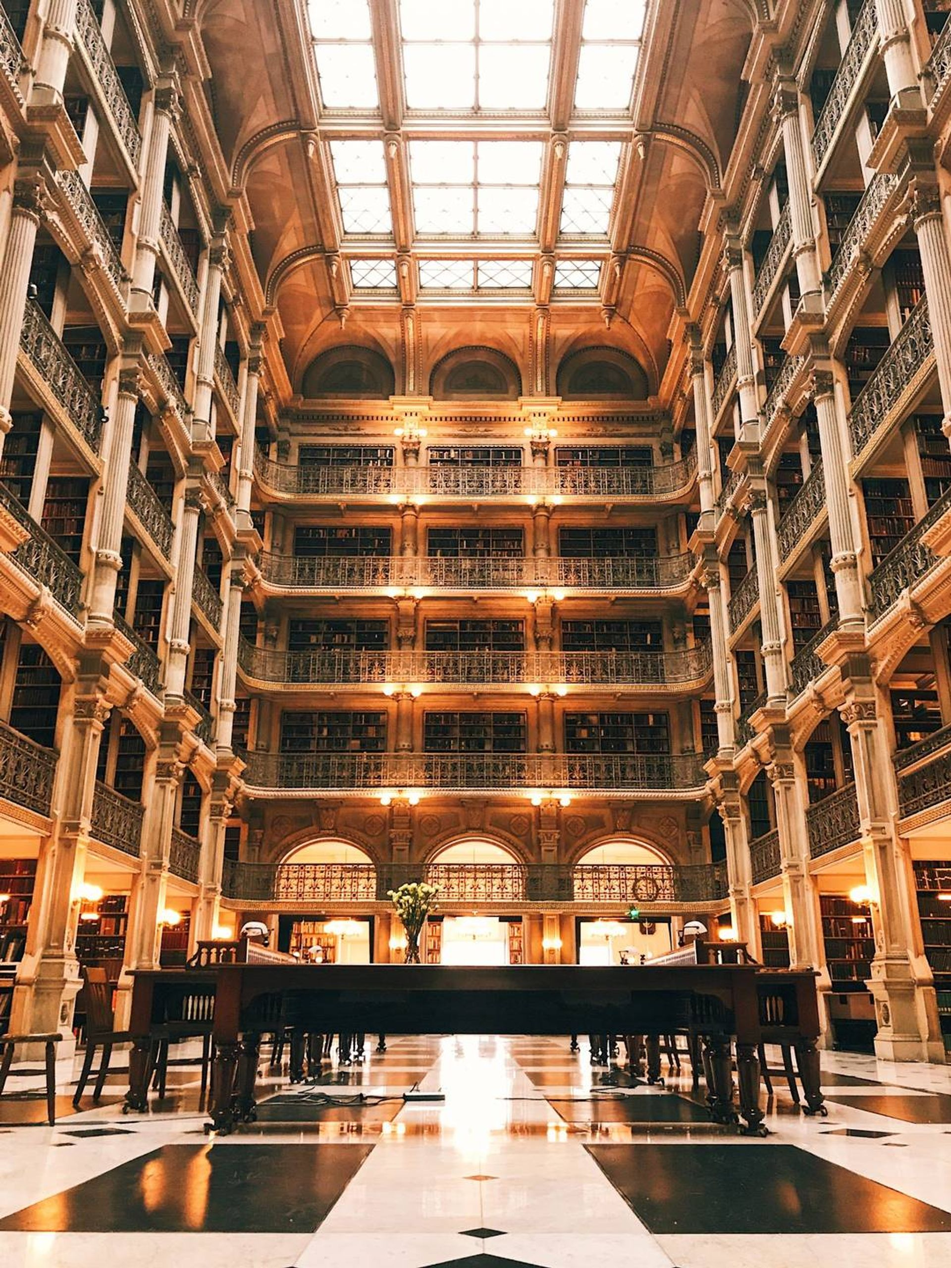 Peabody Library in Baltimore Rewire PBS book living