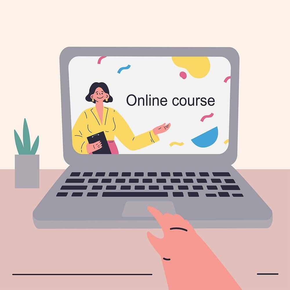 An online school course. REWIRE PBS Living Work Grad School