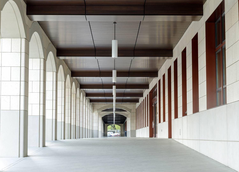 Empty Campus Corridor in Stanford University, California. Rewire PBS Work Gap Year