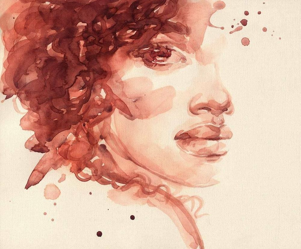 Water color illustration of a young woman. Rewire PBS Our Future to Black Girls