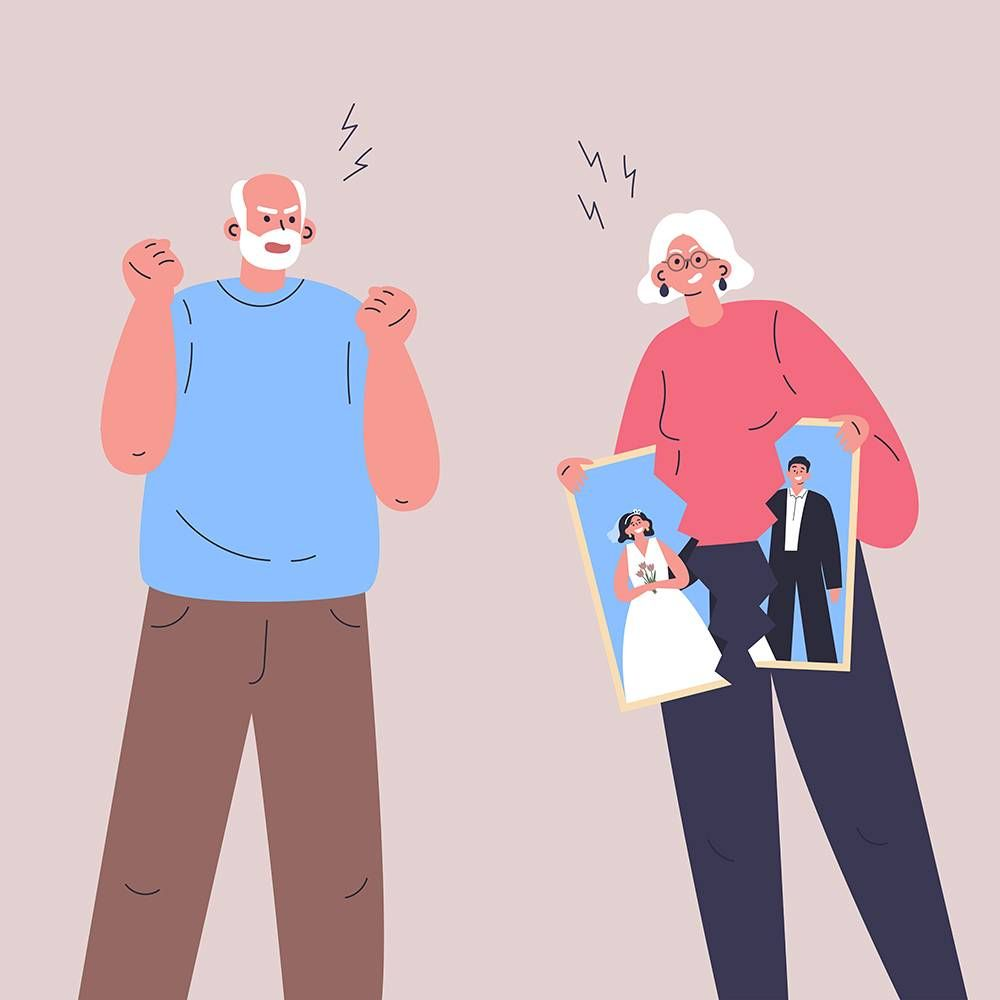 two older adults fighting. rewire pbs love parents divorce