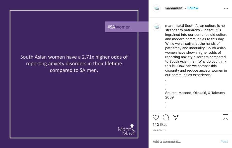 MannMukti instagram post