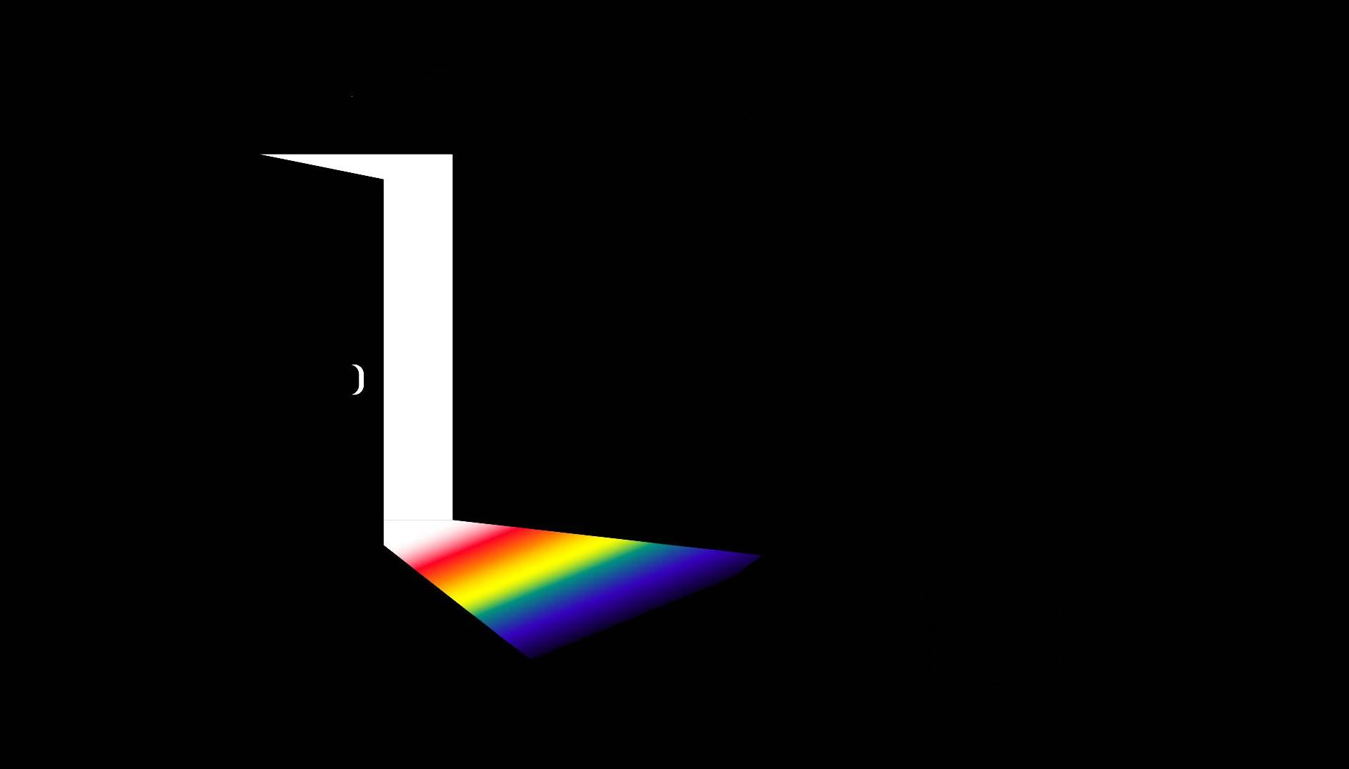 Illustration of a rainbow pouring out of an open door. Rewire PBS Love Coming out to grandparents