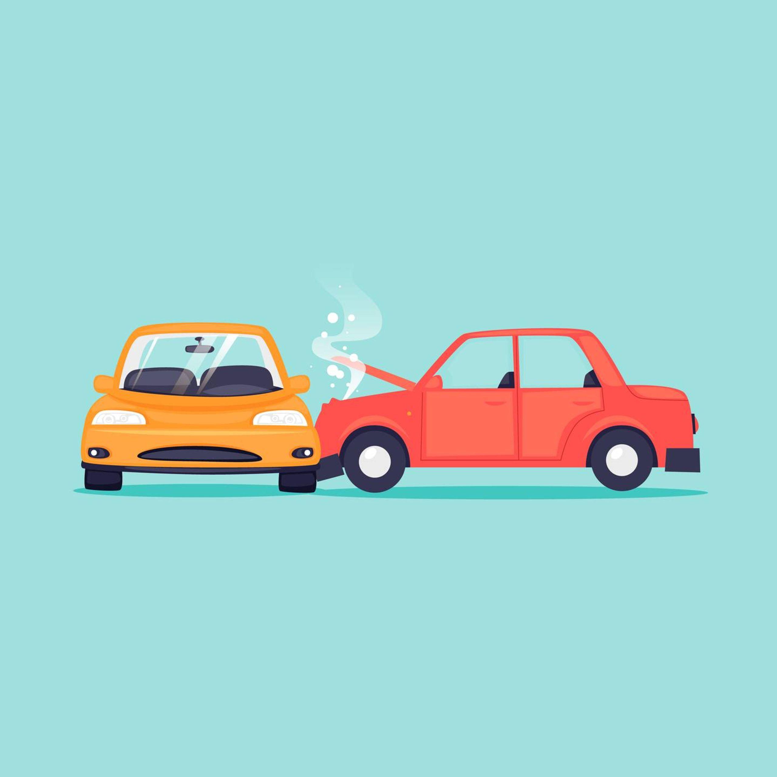 Illustration of a car accident, Rewire, car crashes