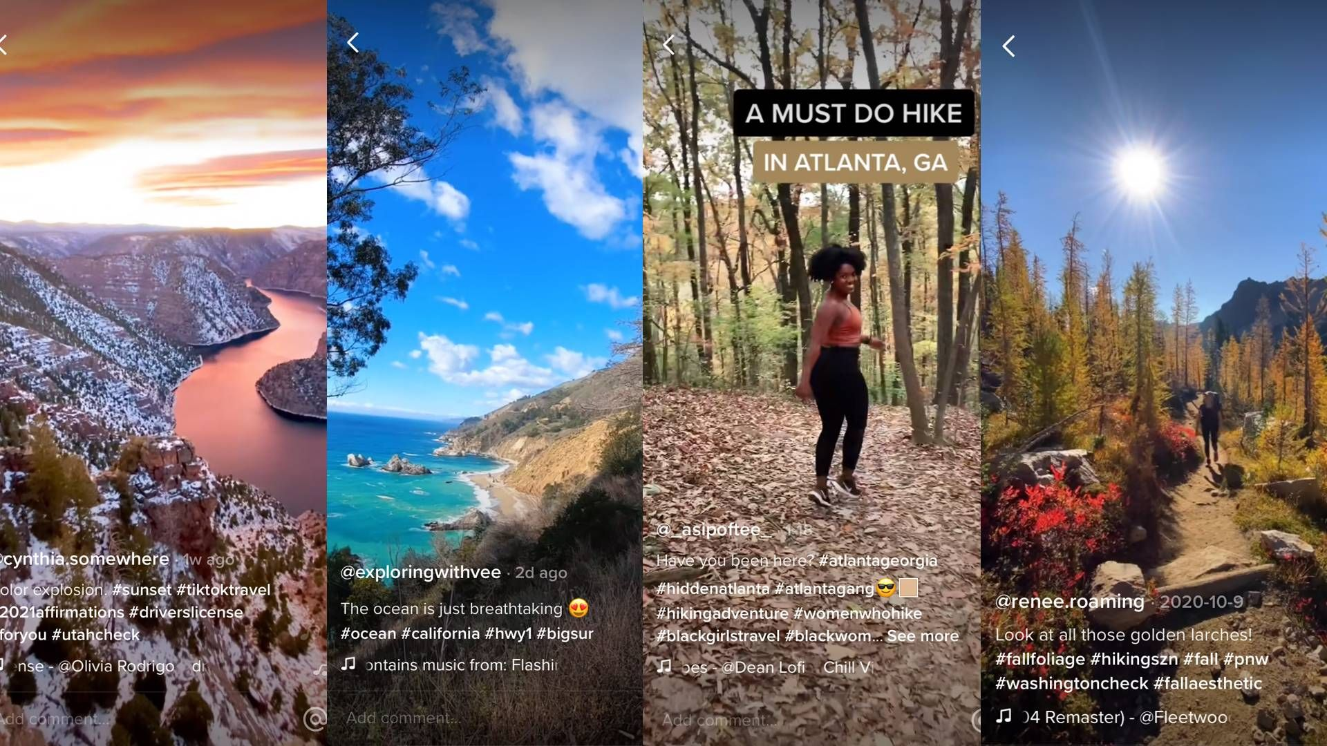 images from hiking tiktok videos. rewire pbs living hiking tiktok