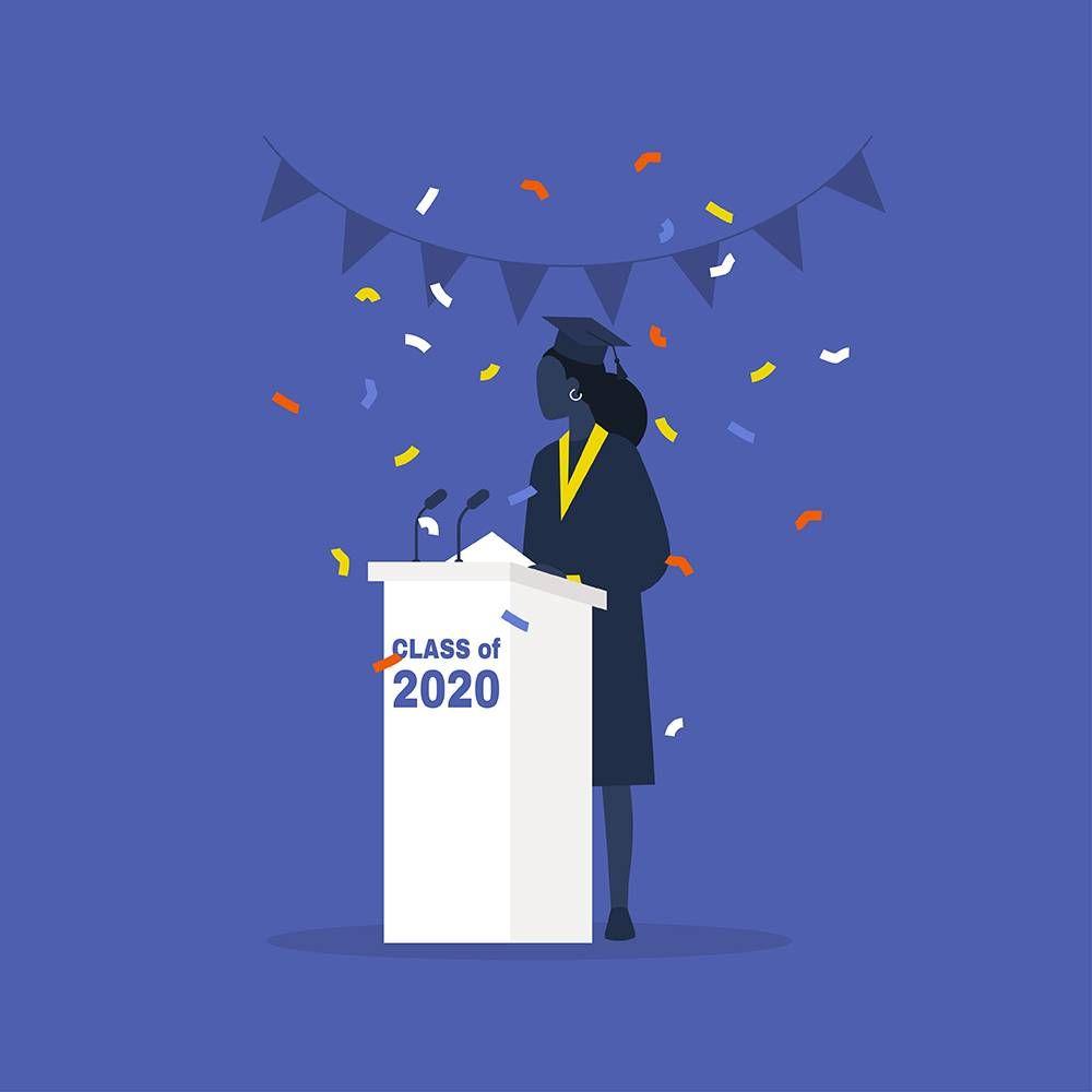 black female graduate. REWIRE pbs our future student debt
