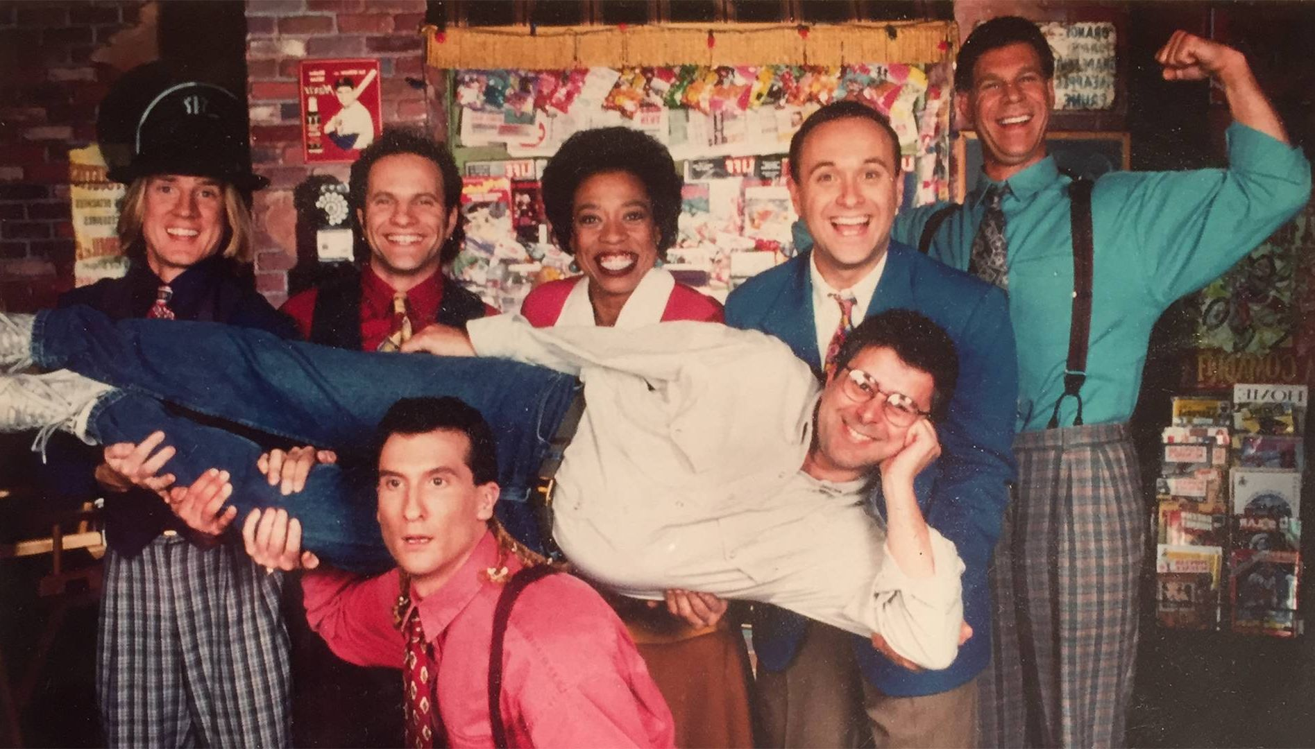 "the ""where in the world"" cast with producer Howard Blumenthal. Carmen Sandiego, Where In The World, Rewire, PBS"