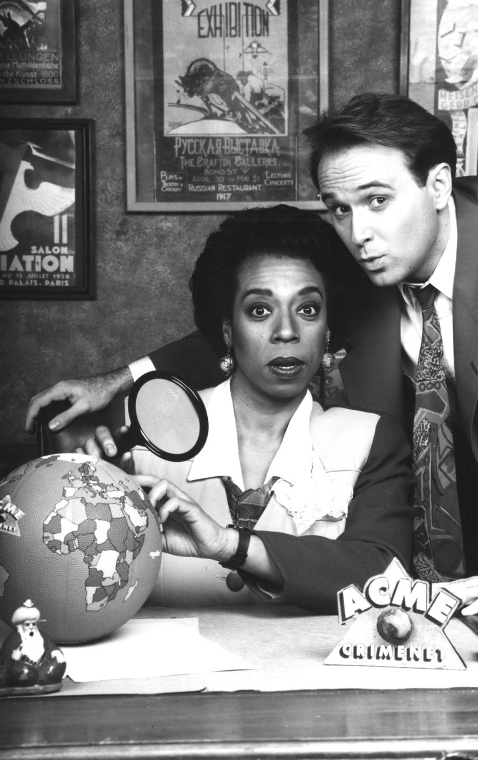 """""""The Chief"""" Lynne Thigpen with host Greg Lee."""