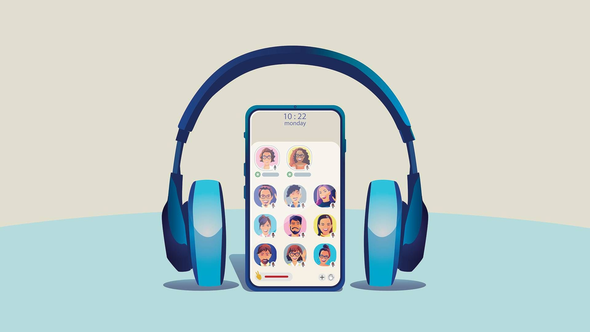 A voice chat app. rewire pbs our future clubhouse