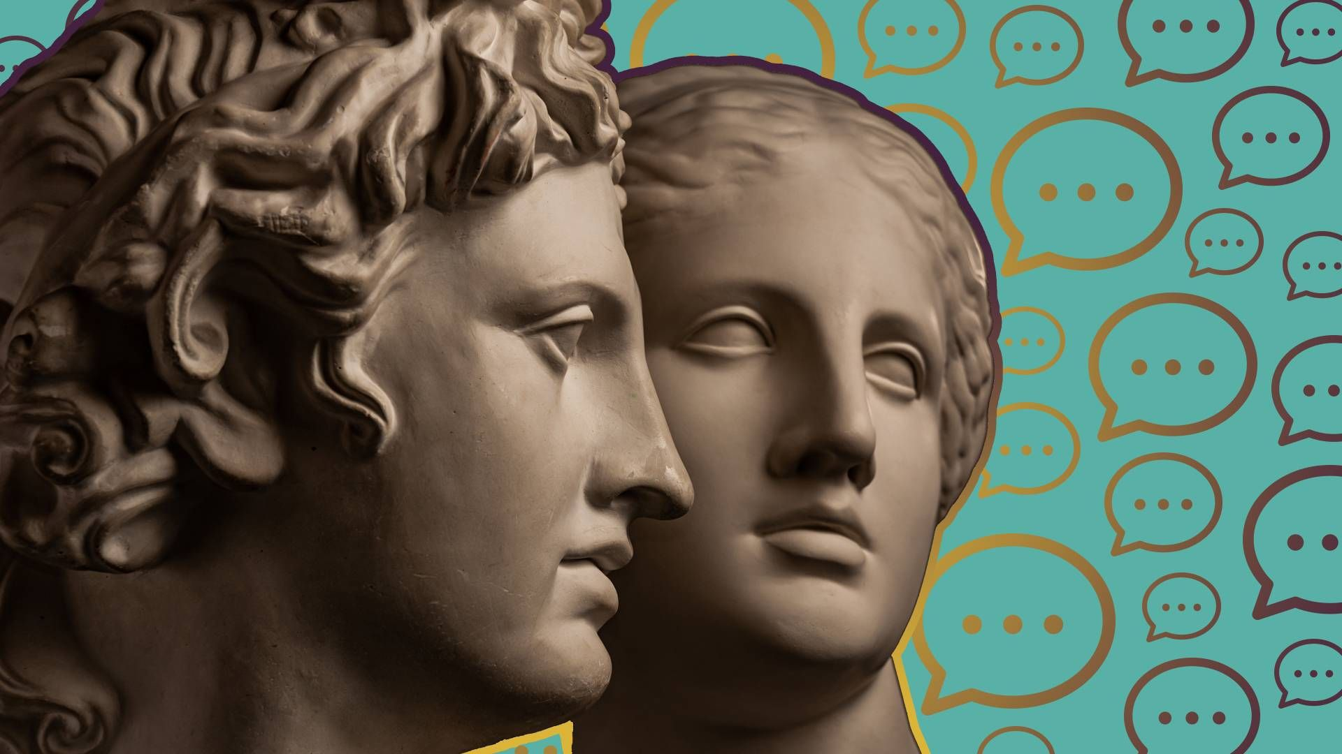 two statues. rewire, pbs, friends, friendships