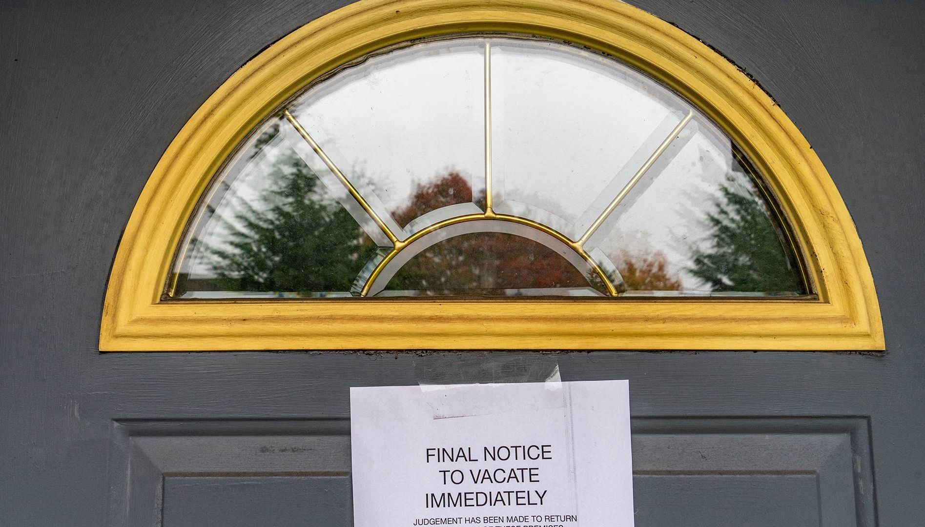 eviction notice on door. rewire pbs our future housing insecurity