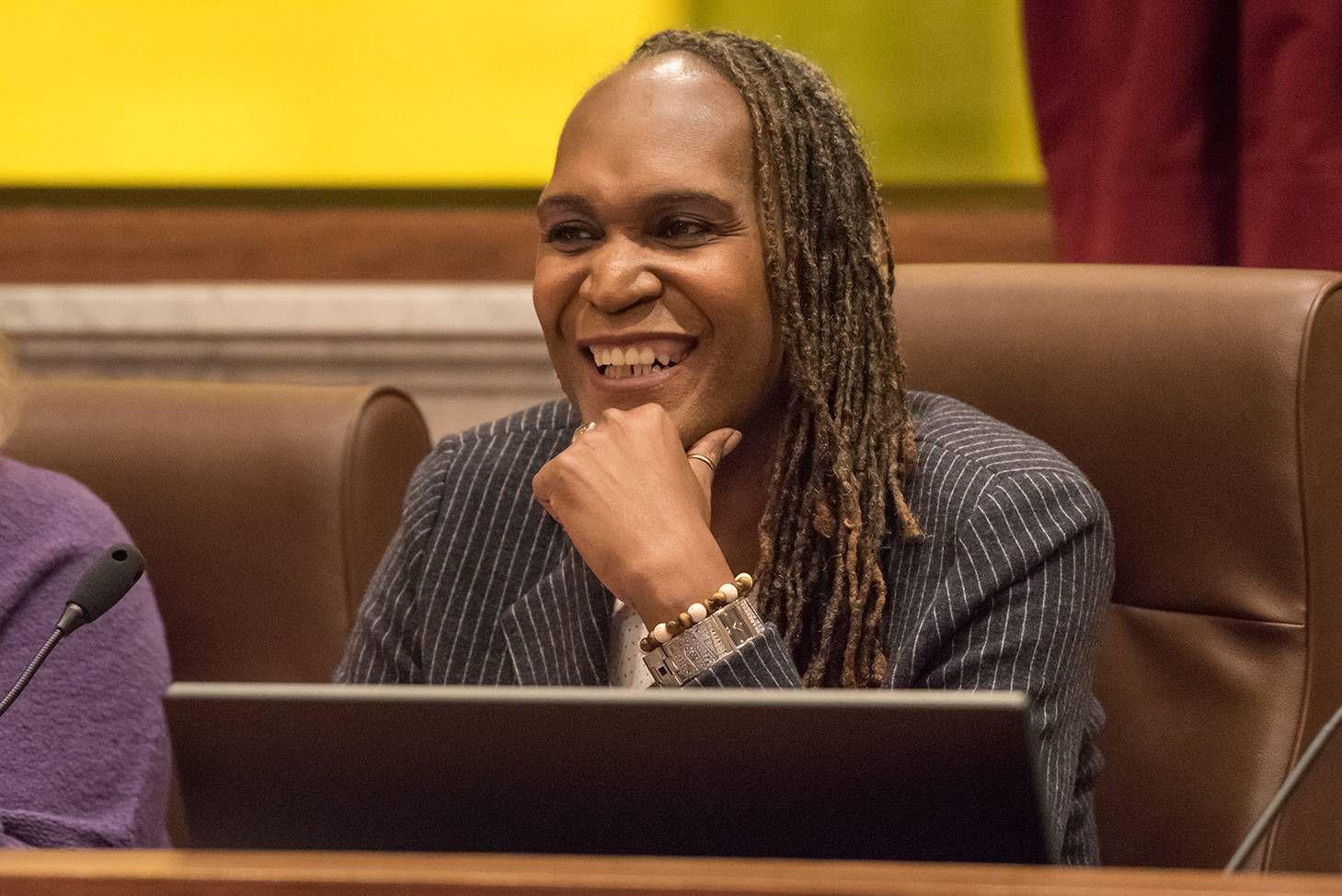 Photo of Andrea Jenkins, smiling. pride, taking back pride