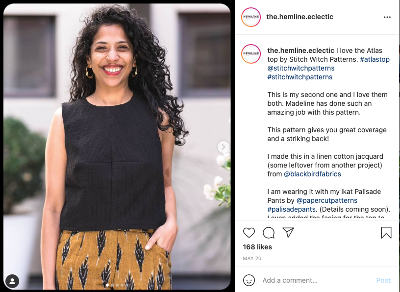 Swetha Mohan, @the.hemline.eclectic. Rewire pbs our future diy ethical sustainable fashion