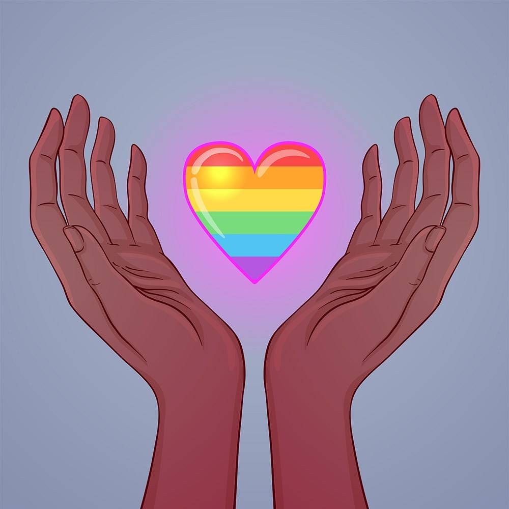 woman holding rainbow heart. REWIRE PBS love quietly queer, pride, LGBTQ