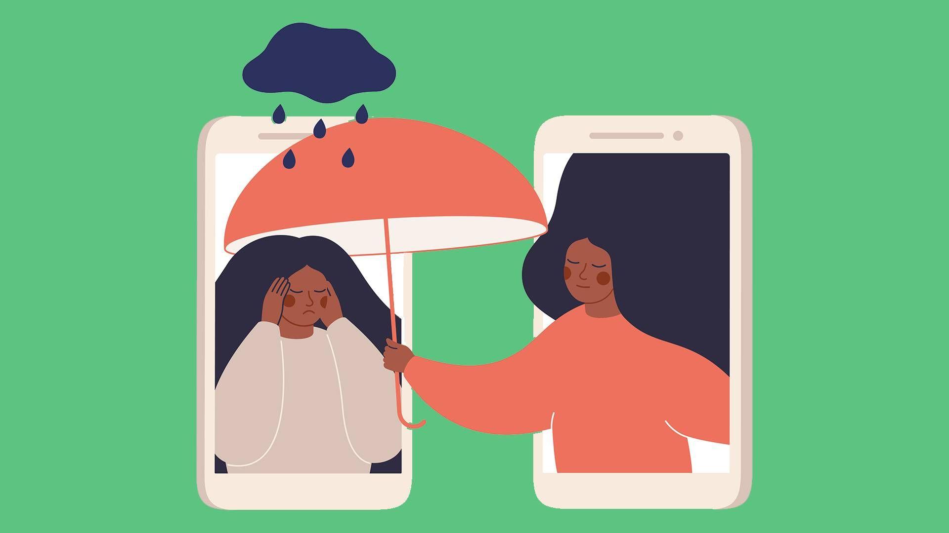 two women helping. rewire pbs health mental health tiktok